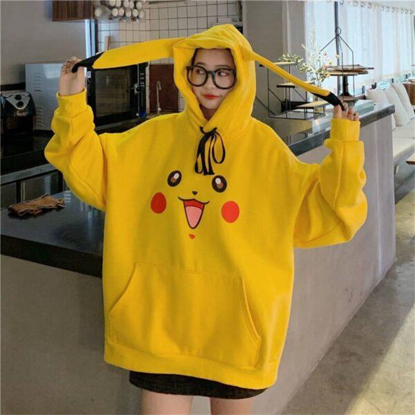 Sweat à capuche Pokemon femme Geek 4