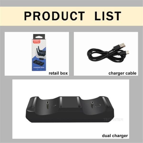 Support de charge manette Sony Playstation 5 Gaming 7